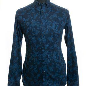 Ted Baker Navy Blue Floral Print Shirt XL